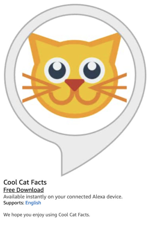 Amazon Alexa and the Matter of Cat Facts 5