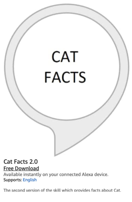 Amazon Alexa and the Matter of Cat Facts 10