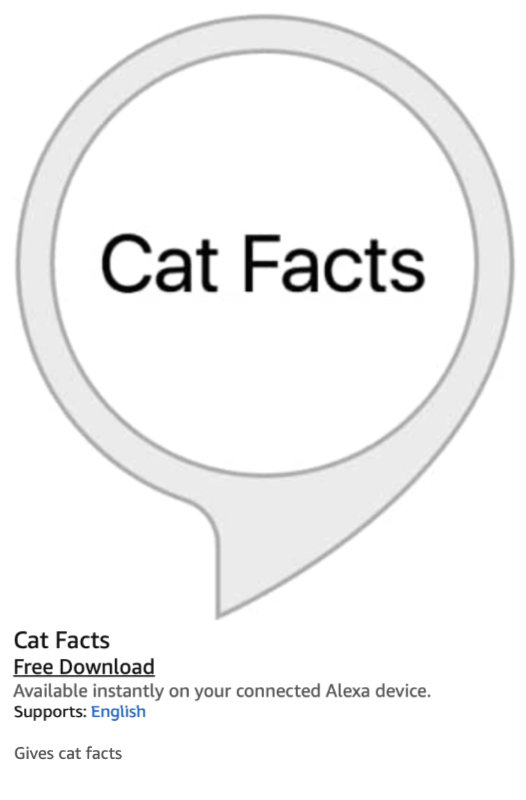 Amazon Alexa and the Matter of Cat Facts 11