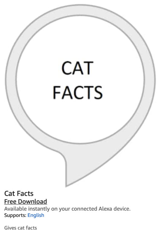Amazon Alexa and the Matter of Cat Facts 9