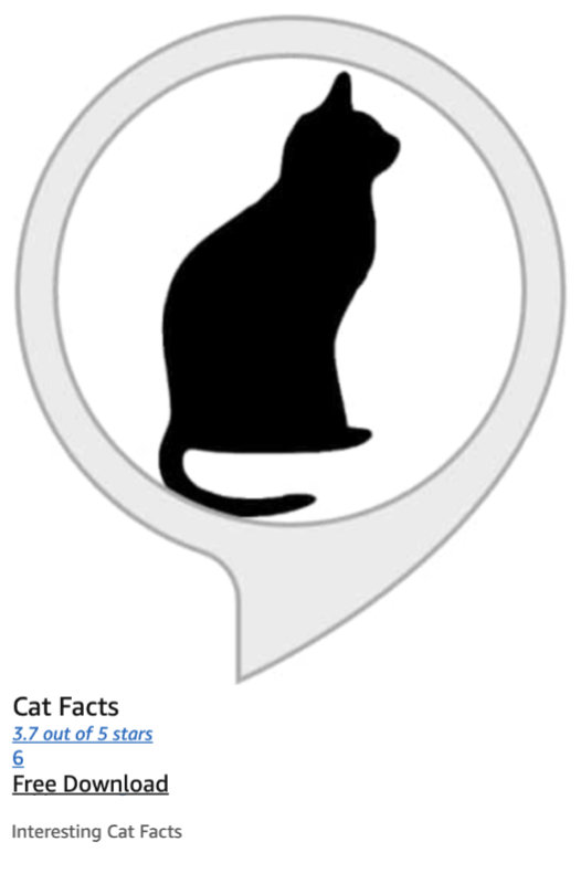Amazon Alexa and the Matter of Cat Facts 12